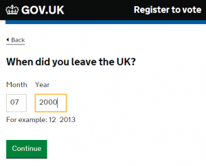 When did you leave the UK?