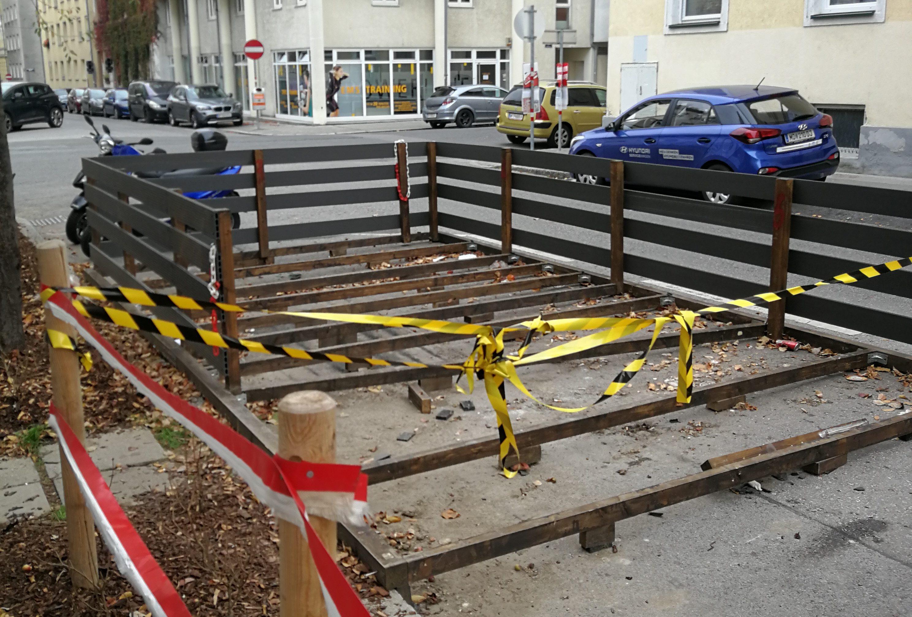 """Dismantled Schanigarten at """"zur urigen Gruam"""""""